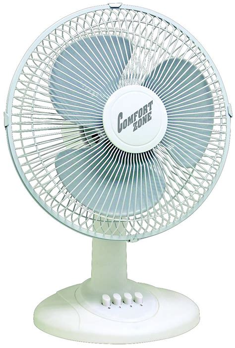 12 inch desk fan comfort zone cz121km 12 quot oscillating fan