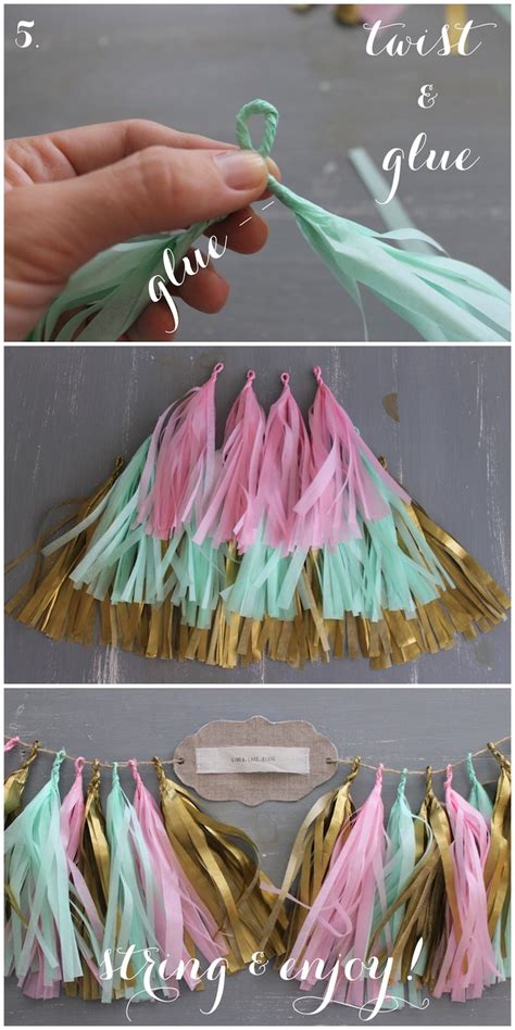 How To Make Paper Tassel Garland - linen lace diy confetti system inspired tissue