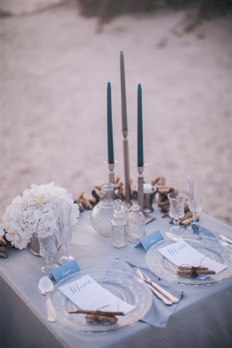 Misty, Moody, Cerulean Blue and Pewter Beach Wedding