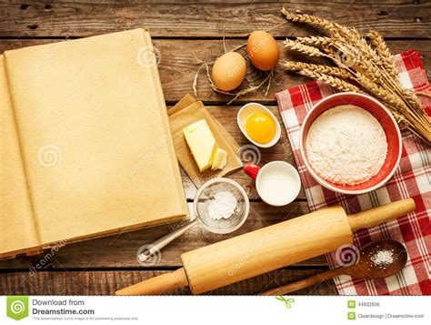 Kitchen Ingredients by Rural Kitchen Baking Cake Ingredients And Blank Cook Book