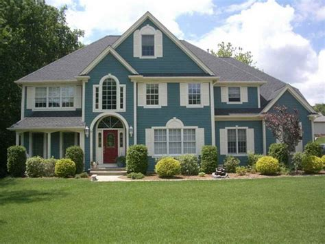 exterior paint colors blue images