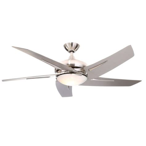 Ceiling Fans With Light And Remote by Hton Bay Sidewinder 54 In Indoor Brushed Nickel