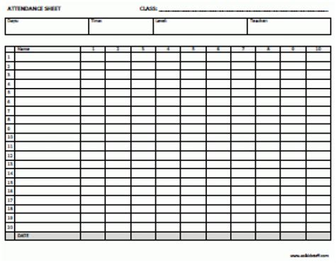 register template html 5 attendance register templates excel xlts