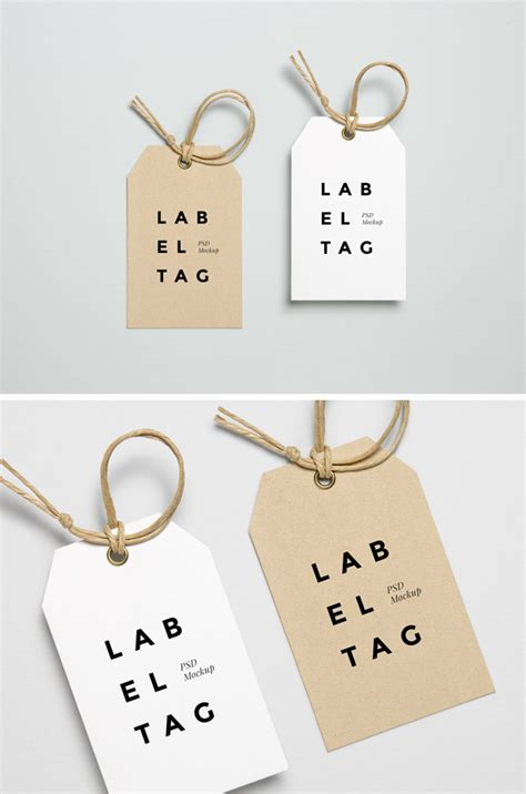 Label Design Cost | label tag psd mockup 2 graphicburger