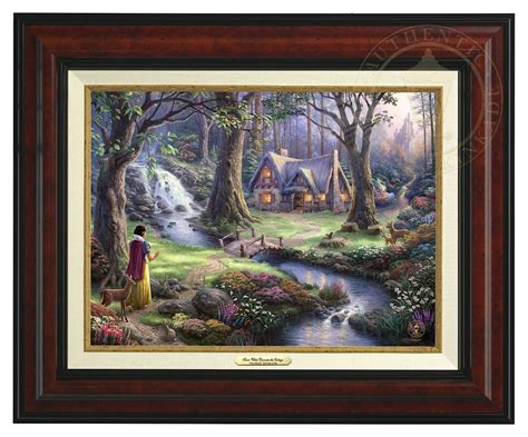 Snow White Discovers The Cottage by Snow White Discovers The Cottage Canvas Classic Burl