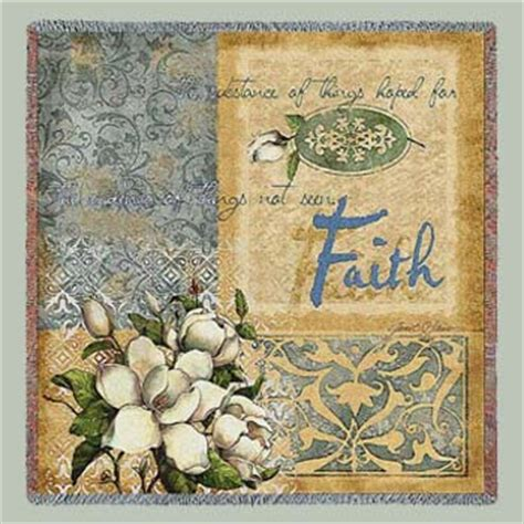 faith tapestry lap square throw inspirational and