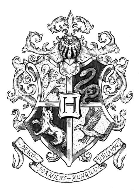 harry potter coloring pages hogwarts crest harry potter crest