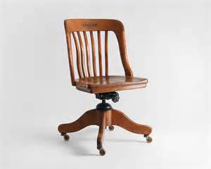 items similar to vintage oak office chair wood mid