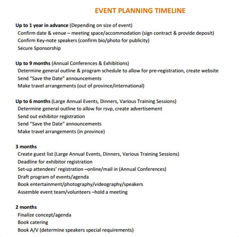 event planning timeline template event timeline 9 free documents in pdf doc