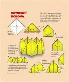 Origami Lesson Plans - coroa em origami projetos para experimentar