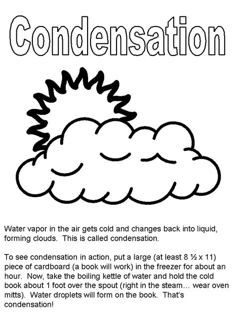 Water Cycle Activity Sheets Water Cycle Coloring Page
