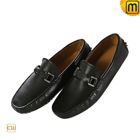black slip on driving shoes for cw740030