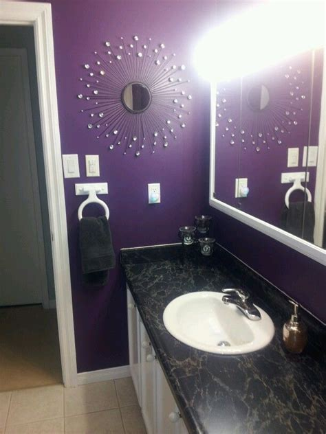 dark purple bathrooms purple bathroom western redo home with bling bathroom