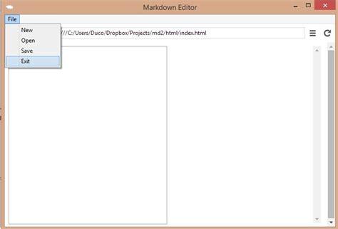 node js webkit tutorial node webkit nw js tutorial creating a markdown editor