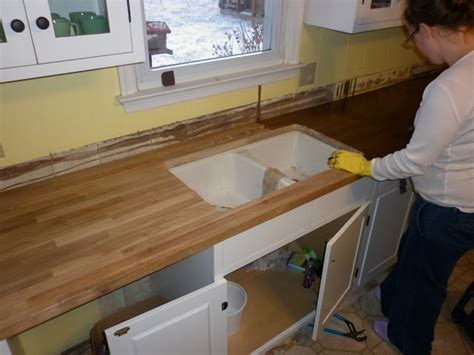 Staining Butcher Block Countertops by Butcher Block Countertops Staining Kitchen