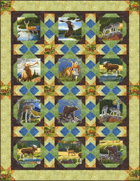 Wildlife Quilt Patterns Free by Free Pattern Wilderness Equilter Blogequilter