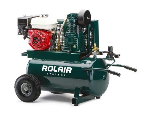 rolair 5 5 hp 20 gallon gas portable air compressor w honda engine 4090hk17 20