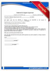 free printable abatement of litigation agreement form