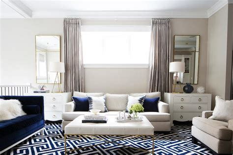navy living room accents transitional living room