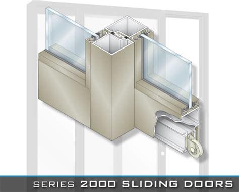 aluminum door section crl u s aluminum series 2000 sliding doors
