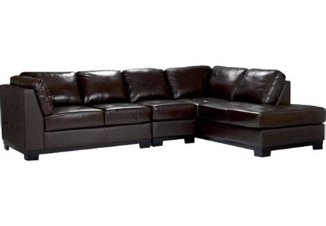 nouveau leather sectional sofa sectionnel de droite oakdale 3 pi 232 ces brun