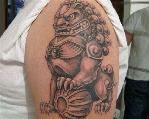 25 breathtaking foo dog tattoos
