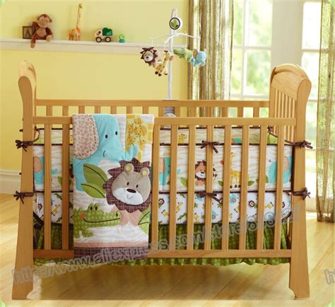boy nursery bedding sets 7 pieces lovely baby bedding crib set forest printed baby boy crib bedding set cot sheets