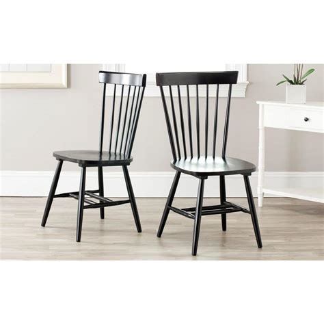 Black Wood Dining Chair Safavieh Black Wood Dining Chair Set Of 2 Amh8500b Set2 The Home Depot
