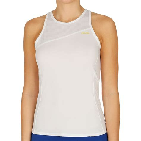 photos of the tops of womens heads head vision tank top women white yellow buy online