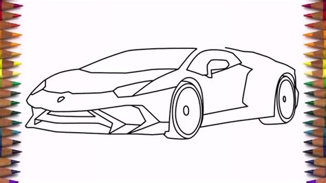 How To Draw A Lamborghini How To Draw A Car Lamborghini Aventador Lp 750 4 Step By