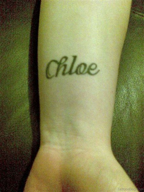 chloe tattoo designs 70 interesting name tattoos on wrist