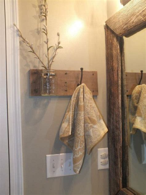 bathroom towel rack ideas wooden towel holder jars towels and the glass