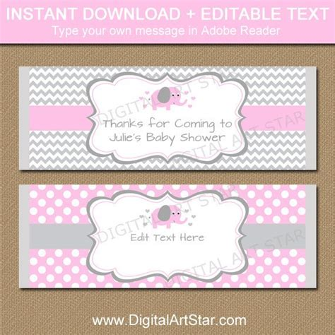 candy bar wrappers template for baby shower printable free editable chocolate bar wrapper template printable pink