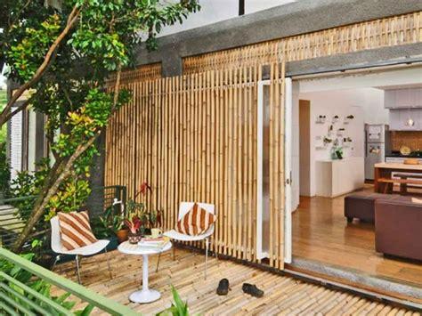 desain rumah bambu terkini desain rumah