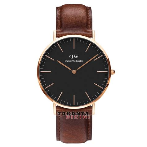 Jam Tangan Pria Tagheuer Cr7 Rosegold Black Leather termurah daniel wellington classic black st mawes 40mm gold grosir tokonyadisini