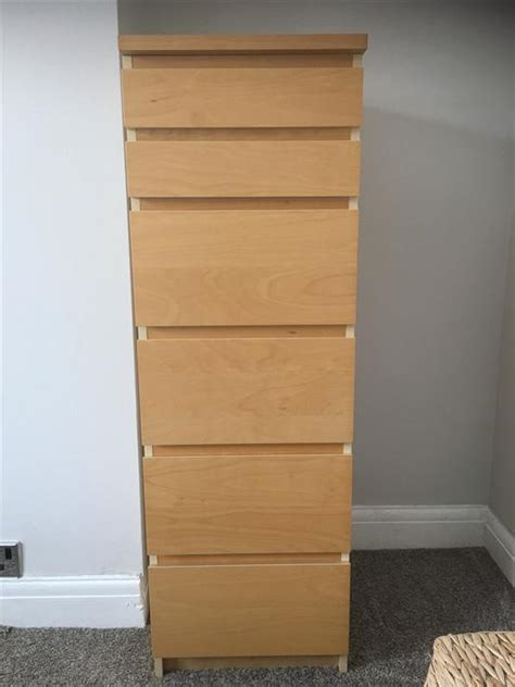 tall thin chest of drawers ikea ikea malm beech tall chest of 6 drawers west bromwich dudley