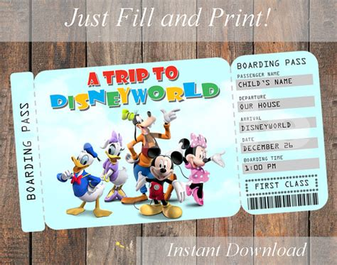 printable disneyland tickets printable ticket to disneyworld disneyland by kirstenskreation
