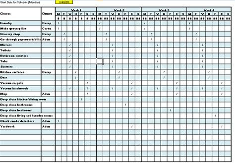 rota calendar template 28 house rota template cleaning schedule template
