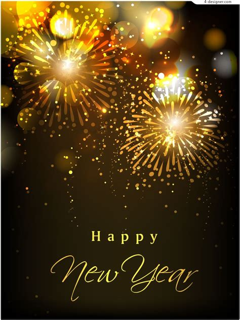 poster of new year 4 designer 2014 bright new year poster vector material