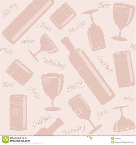 seamless pattern text seamless pattern with drinks and text stock photo image