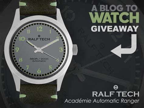 Rolex Giveaway 2017 - watch giveaway ralf tech acad 233 mie automatic ranger ablogtowatch