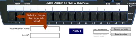Aviom Labeling Templates