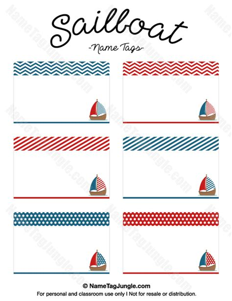 16 best name tags images on pinterest moldings free free printable sailboat name tags the template can also