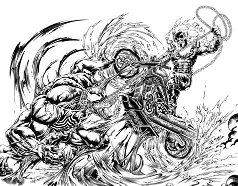 ghost rider vs venom high res inks emil by tshorty11 on
