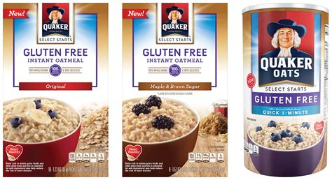 whole grains oats gluten free quaker oats gluten free oatmeal launches nationwide in