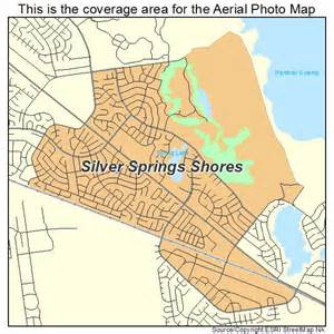 aerial photography map of silver springs shores fl florida