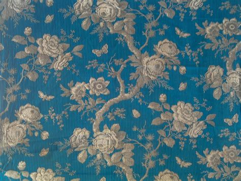 french fabric curtains antique french fabric textile 19th c arboreal in blue