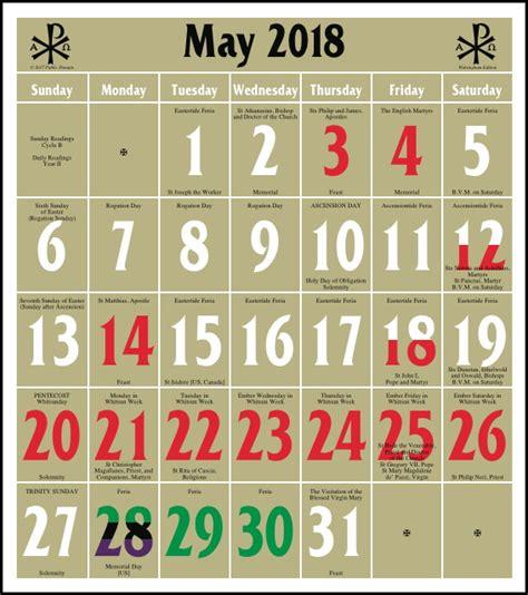 Episcopal Calendar Episcopal Kalendar 2018 Printable 2018 Calendar Free