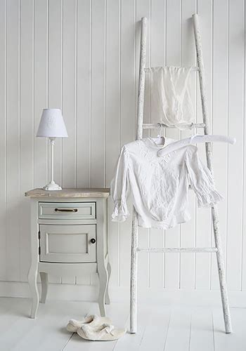bedroom clothes horse white wooden decorative ladder from the white lighthouse