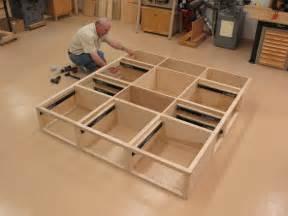 Make Platform Bed With Drawers Custom Platform Storage Bed With Headboard Nightstands